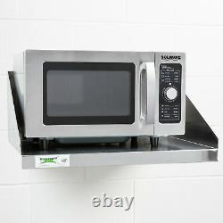 Stainless Steel Commercial Restaurant Wall Mount Microwave Shelf NSF 24 x 18