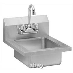 Stainless Steel Commercial Wall Mounted Hand Sink 14 x 16.5
