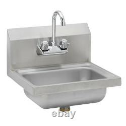 Stainless Steel Commercial Wall Mounted Hand Sink 17 x 15