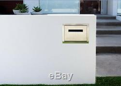 Stainless steel letterbox secure drop box parcel large mailbox brick insert