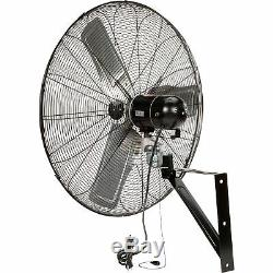 TPI Commercial Oscillating Wall-Mount Fan- 30in 1/4 HP 6700 CFM Model# CACU30-WO