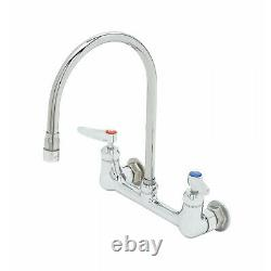 T & S B-0230-134XA-CR 8 Wall Mount Commercial Faucet 1/2 NPT P. Chrome New