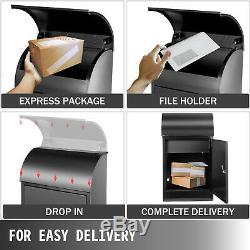 Vevor Steel Locking Extra Large Drop Box Wall Mounted Mailbox for Home Office