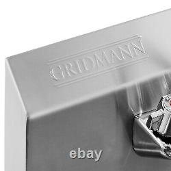 Wall Mount Hand Wash Sink Commercial Kitchen Stainless Steel