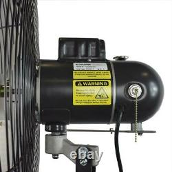 Wall Mounted Industrial Oscillating Fan 24 Indoor Outdoor Commercial Fans Black