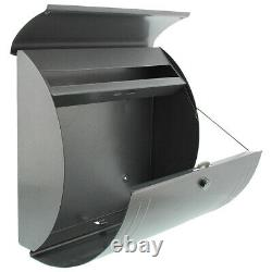 Wall Mounted Post Box External Letter Mail Lockable PostBox Outdoor Mailbox 857