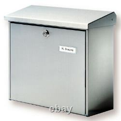 Wall Mounted Post Box External Letter Mail Lockable PostBox Outdoor Mailbox 913