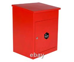 Wall Mounted Smart Parcel Drop Box Red for Secure Multiple Deliveries Large Red