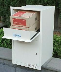 Wall parcel letterbox secure delivery drop mailbox large front rear retrieval