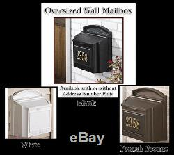 Whitehall Wall Mailbox Oversized Capacity Locking & in 3 Colors Ships Quick