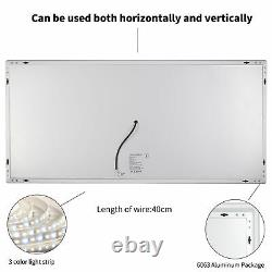 XL-Large LED Lighted Bathroom Vanity Mirror 42 Commercial-Grade Wall-Mounted