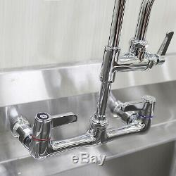 YooGyy Pre-rinse Commercial Kitchen Faucet with High Pressure Pull Down Sprayer