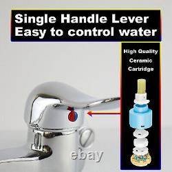 YooGyy Wall Mount Commercial Kitchen Faucet 4-8 Inch Center Pre-rinse Sprayer