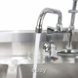 YooGyy Wall Mount Commercial Kitchen Pre-rinse Faucet with 12'' Swing Spout