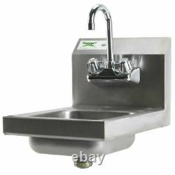 12 X 16 Wall Mount Nsf Hand Wash Sink Restaurant Acier Inoxydable Commercial