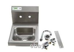 12 X 16 Wall Mount Nsf Hand Wash Sink Restaurant Commercial Stainless Steel