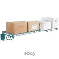 14 X 60 Mur Mount Green Epoxy Wire Shelf Rack Commercial Restaurant Pot Nsf