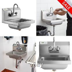 17 X 15 Mur Monté Évier À Main Avec Robinet Hand-wash Station Cuisine Commerciale