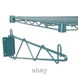 18 X 60 Mur Mount Green Epoxy Wire Shelf Rack Commercial Restaurant Pot Nsf