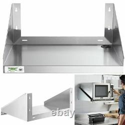 24 X 18 Microwave Stelf Stand Acier Inoxydable Wall Mount Restaurant Commercial