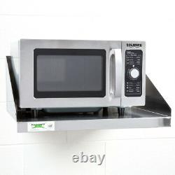 24 X 18 Restauration Commerciale En Acier Inoxydable Mur Mount Microwave Shelf Stand
