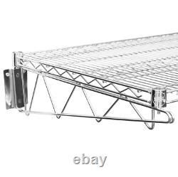 24 X 36 Wall Mount Chrome Wire Shelf Rack Commercial Restaurant Pot Pantry Nsf