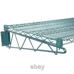 24 X 48 Mur Mount Green Epoxy Wire Shelf Rack Commercial Restaurant Pot Nsf