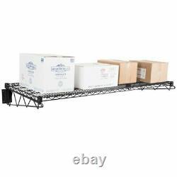 24 X 60 Wall Mount Metal Shelf Racks Commercial Restaurant Chrome Green Black