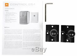 (2) Jbl Control 25-1 5,25 30w 70v De Fixation Murale Commercial Restaurant / Bar Haut-parleurs