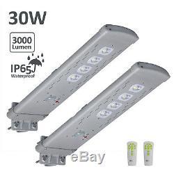 2pcs 3000lm Commerciale Réverbère Solaire Ip65 De Mouvement Pir Support Mural Night Light