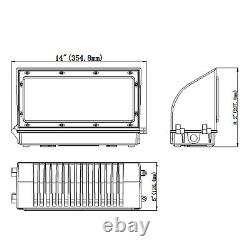4,800lm Commercial Led Wall Pack Light Ip65 Outdoor Building Mounted Lights 45w
