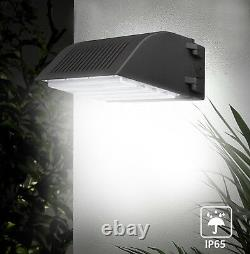 4,800lm Commercial Led Wall Pack Light Waterproof Outdoor Building Mounted 4pack