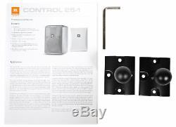 (4) Jbl Control 25-1 5,25 30w 70v De Fixation Murale Commercial Restaurant / Bar Haut-parleurs