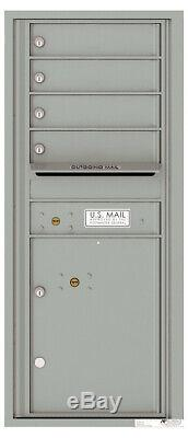 4c11s-04 Florence 4c Boîte Aux Lettres Commerciales 4 Locataires Portes, 1 Colis Encastrés