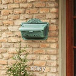 Aluminium Wall Mount Mailbox Rustic Antique Vintage Mail Box Post Outdoor Decor