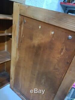 Antique Vintage Wood Wall Mount Pacific Electric Cabinet Utilisation Commerciale
