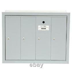 Appartement 4 Portes Mailbox Multi Family Mail Boxes Wall Mount Usps Access
