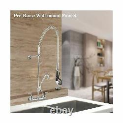 Aquaterior Wall Mount Commercial Kitchen Pre Rinse Robinet Restaurant Sink Spr