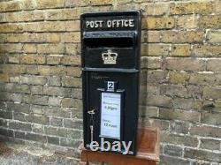 Black Post Box Victorian Style Freestanding Cast Aluminium Lettre Mail Verrouillable