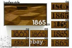Boîte Aux Lettres Moderne, Solide Iroko 3d Bois Visage, Corps En Aluminium Brossé Argent, Type 3