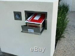 Boîte De Dépôt Sécurisée En Acier Inoxydable Grande Boîte Aux Lettres Colis Insert De Brique