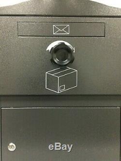 Brizebox Boîtier Compact Autonome Standard Boîte Aux Lettres Gris Architectural Postbox