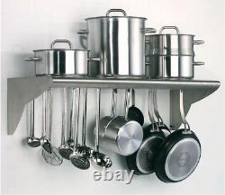 CMI Commercial Stainless Steel Wall Mount Shelf-12x96