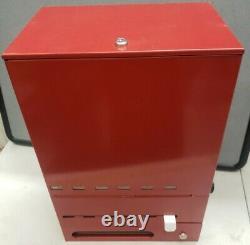 Commercial 6 Slot Coinop Blanchisserie Mat Mur Mount Vending Machine Coin Actionné
