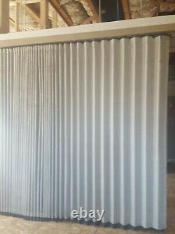 Commercial Accordéon Wall Office Divider Plafond Monté Tan Couleur