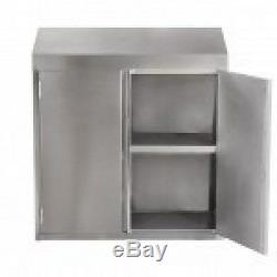 Commercial En Acier Inoxydable 15x60 Support Mural Armoire De Rangement Avec Portes Battantes