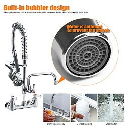 Commercial Sink Faucet Pr Rinse Sprayer 8 Pouces Center Wall Mount Kitchen Robinet