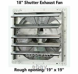 Commercial Wall Mount Shutter Exhaust Fan 18 Atelier Garage Garage Shed Barn