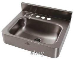 Dura-ware 1950-1-09-gt-h34 Silver Bathroom Sink, Acier Inoxydable, Montage Mural