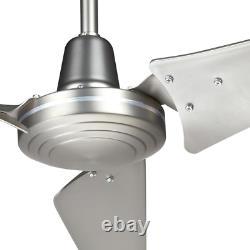 Energy Star Ceiling Fan Work Shop Industrial Garage Wallmount Remote Nickel60 À